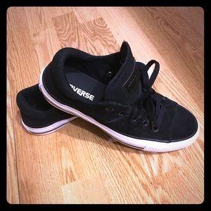 Converse Madison black big tongue sneakers